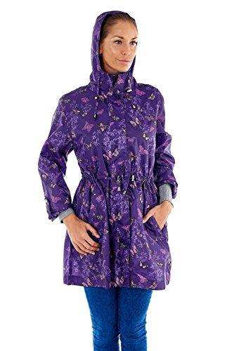 Pro Climate - Manteau imperméable - Parka - Femme Butterfly - Purple
