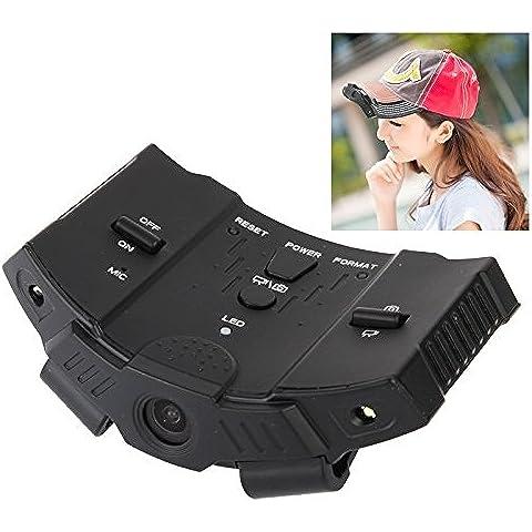 Action Camera, Camera Full HD 720P mette in mostra la macchina fotografica DVR di azione del casco Cap videocamera portatile con 2 luce LED