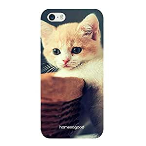 HomeSoGood Adorable Cat Blue 3D Mobile Case For iPhone 5 / 5S (Back Cover)