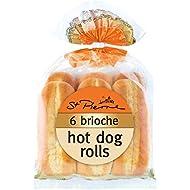 St Pierre 6 Brioche Hot Dog Rolls