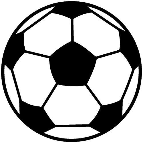 Samunshi® Autoaufkleber Fußball Aufkleber in 9 Größen und 25 Farben (8x8cm schwarz)