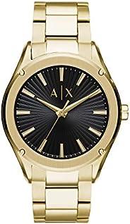 ساعة للرجال من ارماني اكستشينج، لون ذهبي