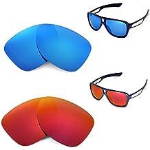 walleva polarizadas Fire Rojo + Ice Azul Lentes de repuesto para Oakley Dispatch II–Gafas de sol
