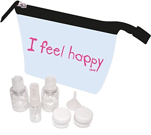 Incidence Trousse de Toilette Transp plus Flacons I Feel Good, 19 cm, Transparent