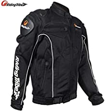 AXT Black Breathable Meshed Motorcycle Protective Riding Jacket (5 Protective Pads) - XL