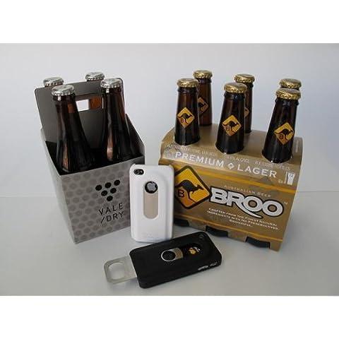 Goliton® Creativa cerveza abrebotellas diapositiva cubierta del estuche rígido para iPhone5-White