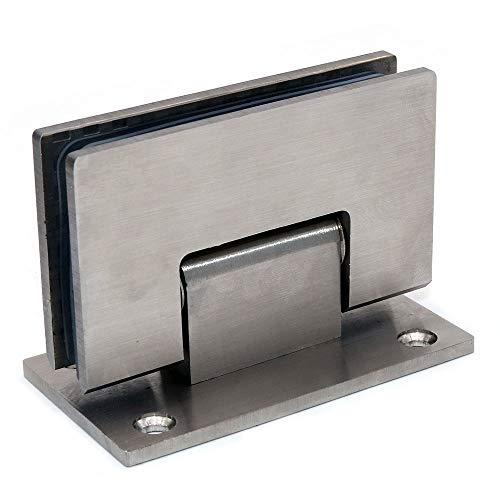 41IMAWc%2BbtL - Juego de 2 bisagras de puerta de vidrio NUZAMAS, soportes, bisagra de la puerta de la ducha Montado en la pared Panel de vidrio de 8-12 mm adecuado, 80-100cm Puerta, 90 grados de cierre y apertura