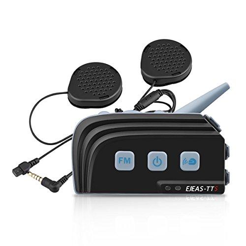 TTS Interfono Moto Bluetooth per Casco Motocicletta Motociclistico Impermeabile Intercom senza Fili 1200M Cuffia Motorcycle Intercom ( Radio di sostegno FM, Funzione Vivavoce per GPS,...
