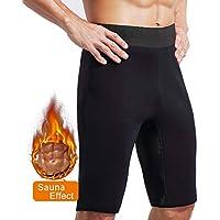 Novasoo Pantalones Cortos de Sauna de Entrenamiento para Hombres, Pantalones de Neopreno para Ejercicio con pérdida de Peso Respirable (XL)