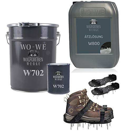 2k Epoxidharz Bodenbeschichtung Komplett Set RAL 7032 Kieselgrau 50qm
