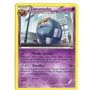 Carte Pokémon DARUMACHO 60/99 NOIR & ET BLANC DESTINEES FUTURES RARE FR NEUVE