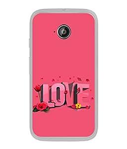 PrintVisa Floral Love High Gloss Designer Back Case Cover for Motorola Moto E2 :: Motorola Moto E Dual SIM (2nd Gen) :: Motorola Moto E 2nd Gen 3G XT1506 :: Motorola Moto E 2nd Gen 4G XT1521