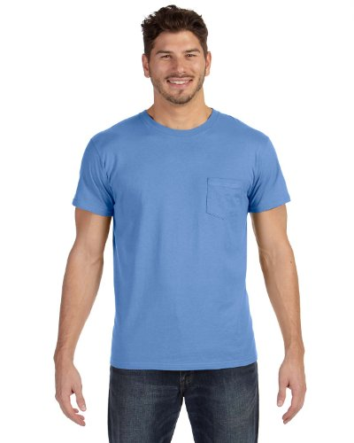 Hanes Herren Asymmetrischer T-Shirt Antique Blue