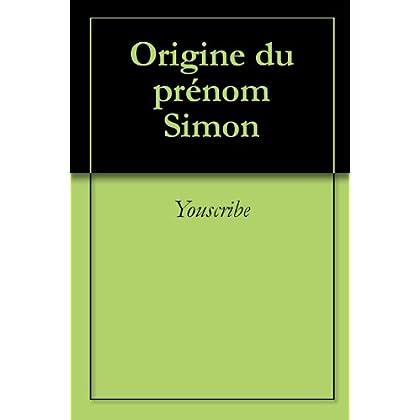 Origine du prénom Simon (Oeuvres courtes)