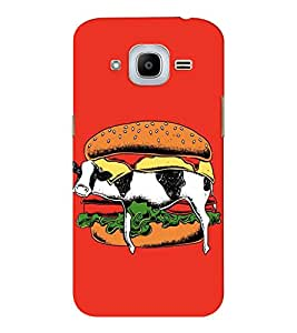 EPICCASE Cow Sandwich Mobile Back Case Cover For Samsung J2 2016 (Designer Case)