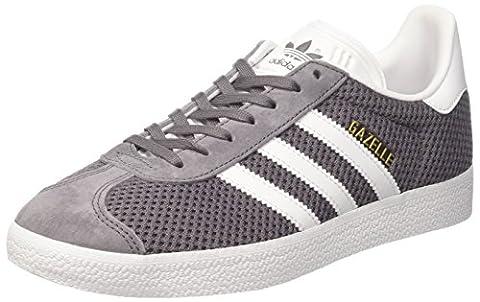 adidas Gazelle, Baskets Basses Homme, Gris (Trace Grey/Footwear White/Trace Cargo), 44 2/3 EU
