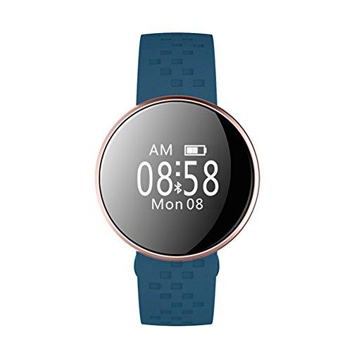Bluetooth Smart Armband Energy Core Fitness-Tracker Herzfrequenz Schlafüberwachung, USB wiederaufladbar, IP67 wasserdicht Free Size blau -