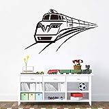Modeganqingg Locomotiva di Moda Treno Adesivo da Parete in Vinile Decalcomanie Home Art Wallpaper Design Decorazione 66cmX105cm