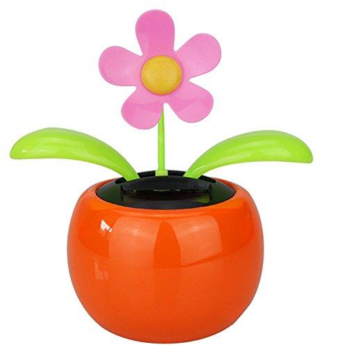 b1dcc997eec296 Demarkt Artículos de mobiliario de automóvil Solar Automático Swing Girasol Dancing  Solar Flower color naranja(