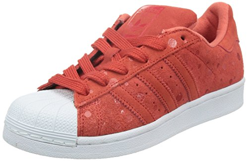 adidas Originals Superstar, Damen Sneakers, Rot (Tomato F15-ST/Tomato F15-ST/FTWR White), 42 2/3 EU (Retro-frauen-basketball-schuh)