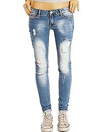 Bestyledberlin pantalon en jean femme, jean slim fit detruit j61f