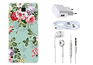 Spygen XIAOMI MI4 Case Combo of Premium Quality Designer Printed 3D Lightweight Slim Matte Finish Hard Case Back Cover + Charger Adapter + High Speed Data Cable + Premium Quality HandfreeI