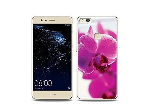 etuo Huawei P10 Lite Handyhülle Schutzhülle Etui Hülle Case Cover Tasche für Handy Foto Case - Violette Orchidee