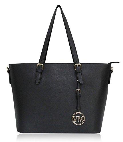 Vanessa & Melissa (Farbauswahl) Damen Handtasche PU-Leder Shopping Bag Shopper Freizeit/Schule/Büro