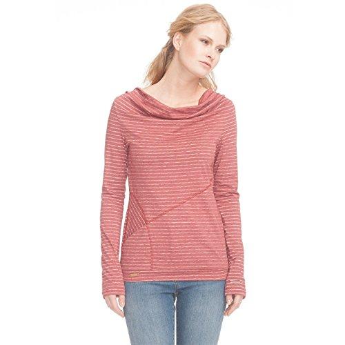 Ragwear Damen Langarmshirt rot S (Shirt Gestreift Out Inside)