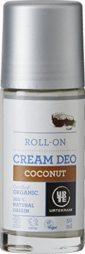 Urtekram Kokos Creme Deo Roll-On Bio, 0% Aluminium, 50 ml