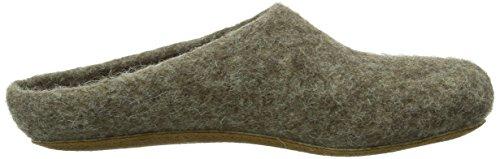 Magicfelt Ar 713, Chaussons Mules Doublé Chaud Adulte Mixte Marron (shetlandschaf 4856)