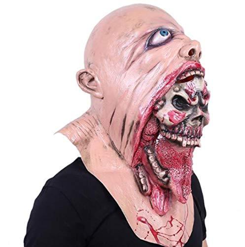 Wmdpls Wasdq Latex Gruselige Horror Einäugige Sloth Kopf Masken Gesicht Cos Faul Gesicht Zombie Zombie Ghost Schrecklich für Halloween Kostüm Party