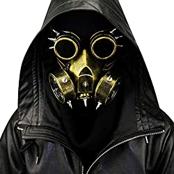 EqWong Steampunk Gas Gafas Muerte Mascarada Para Protección Cosplay Disfraces Halloween