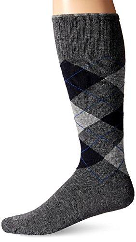 Sockwell SW3M Argyle Herren Kompressionsstrümpfe, Größe 39-43 (M/L) Argyle Farbe Charcoal -