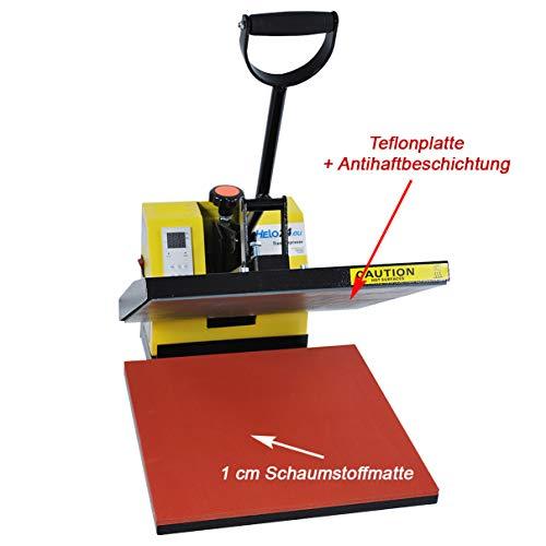 HELO Transferpresse 38 x 38 cm Standard mit Druckausgleichsfedern und verbesserter Hebeltechnik - 3
