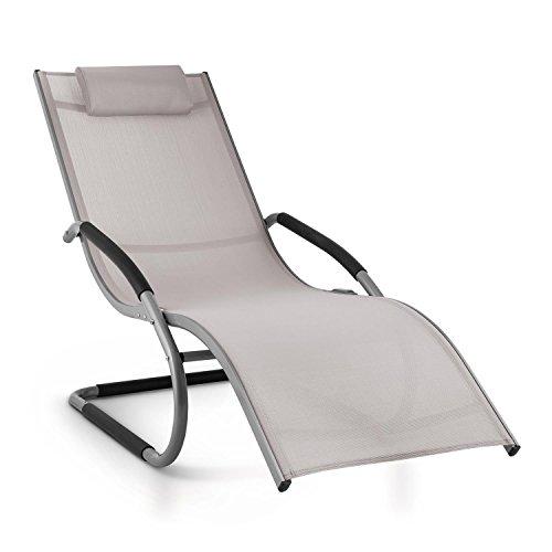 blumfeldt Sunwave • Gartenliege • Liegestuhl • Schaukelliege • Relaxstuhl • ergonomisch...