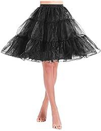 Unterrock Organza 50s Petticoat Vintage Underskirt für Wedding Bridal Reifrock Rockabilly Kleid