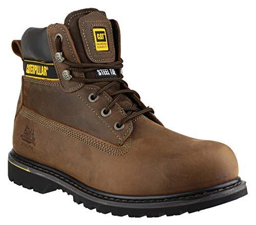 4aa3b13bb61921 Cat Footwear Caterpillar Holton/T, Calzado de protección para Hombre,  Marrón Oscuro,