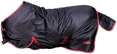 Manta de exterior RugBe Zero.1, 135 cm, negro/rojo con ribete