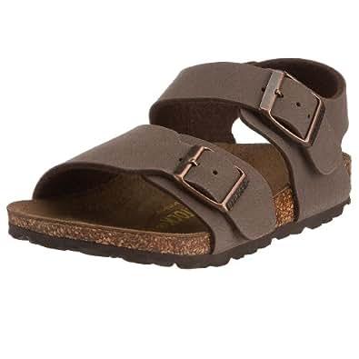 Birkenstock New York Birko-Flor, Style-No. 87033, Children Sandals, Mocca Nubuk, EU 24, slim width