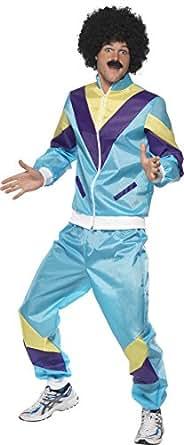 Smiffys 80's Height Of Fashion Shell Suit Costume Blue Medium