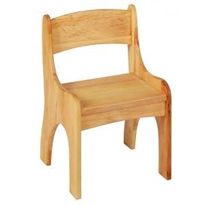 BioKinder 24786 Levin Kinderstuhl Holzstuhl Stuhl für Kinder aus Massivholz Erle 36 x 36 x 55 cm
