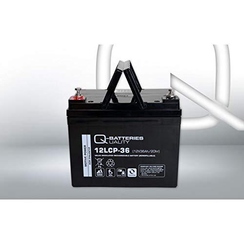 AKKU BATTERIE Q-Batteries 12LCP-36 12V 36Ah GOLFCADDY MOOVER BOOT SCOOTER ELEKTROMOBIL ROLLSTUHL ZYKLENTYP