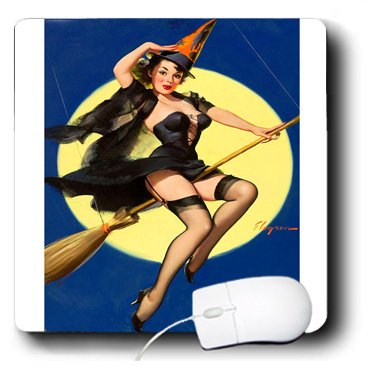 �hmten Halloween Elvgren Pinup Girl-Mauspad ()