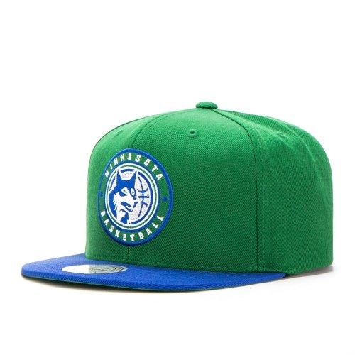Mitchell & Ness Minnesota Timberwolves 2 Tone Circle Patch HUD055 Snapback Cap Kappe Basecap (Minnesota Timberwolves Hat)