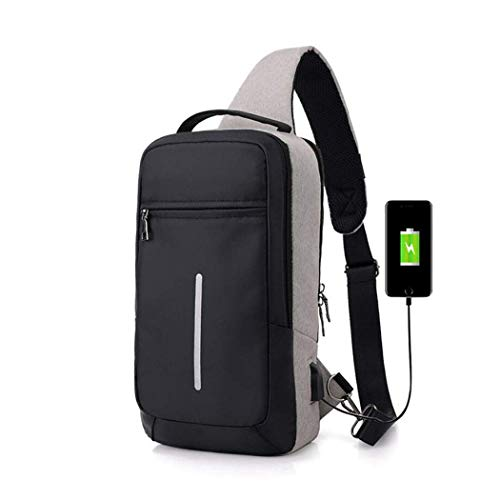 Backpack, Laptop Backpack RFID Anti Theft Travel Backpack for Women Men, High School College Bag w/USB Charging Port, Mancro Business Slim Water Resistant Polyester Daypack
