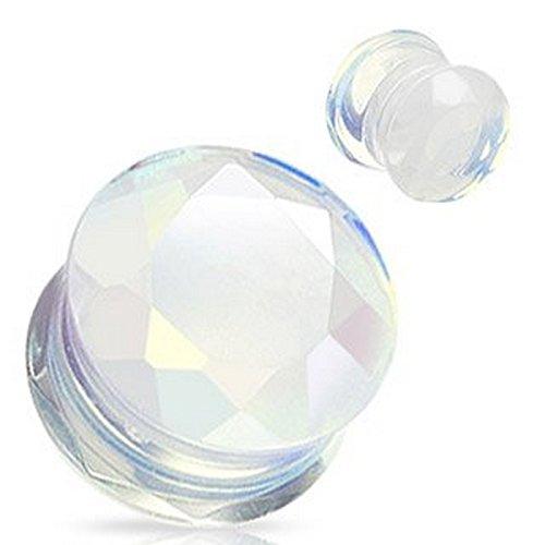 Piercing plug pierre semi precieuse Opalite Taille 6 mm