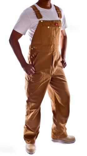 Dickies - Salopette di Jeans - Marrone DB100RBD Abbigliamento da Lavoro Tuta Ind DickiesBrown-34W-32L