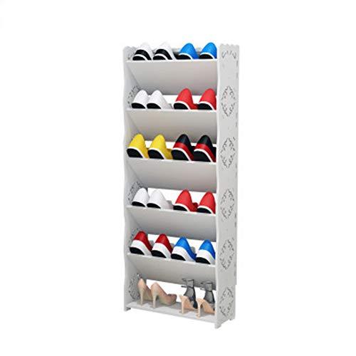 Multi-Couche Simple étagère à Chaussures Rack de Stockage de Chaussures à poussière Rack de Chaussures en Plastique Armoire à Chaussures Combinaison Rack