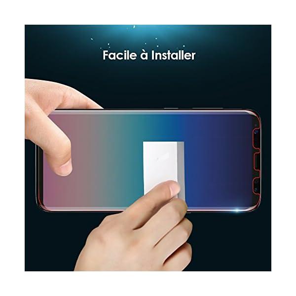 Galaxy S9 Plus Protection écran  2 Pièces  ,G-Color  Sans Erreur,Sans  Bulle  Coque compatible Couverture complète,Souple TPU Film Protection écran  pour ... 15796d6b82dc